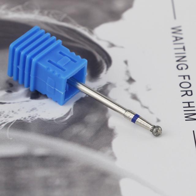 4 Size Ball Diamond Nail Drill Bit Diamond Grinding Head Nail Frez Diamentowy Metal 2.34mm Shank Manicure Machine Accessories