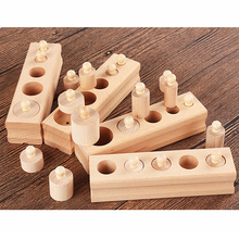 Wooden Cylinder Socket Blocks for Baby,Toddlers & Kids – Educational Toy
