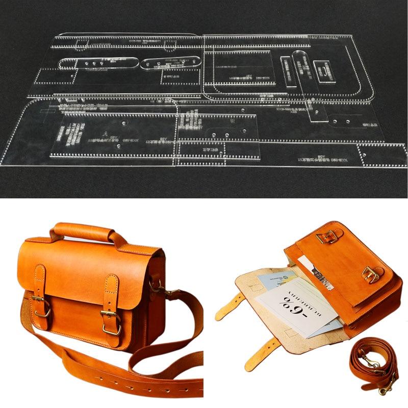DIY Handmade Leather Retro Single Shoulder Bag Satchel Version Version Of Cambridge Acrylic Durable Pattern Paper Pattern