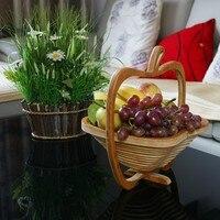 Ücretsiz kargo 10 adet Yenilik öğe katlanır meyve bambu sepet ev depolama toptan