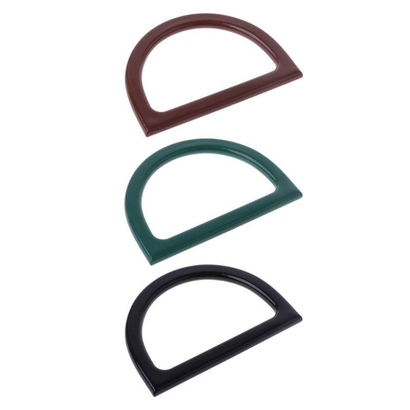 Plastic Bag Handle Replacement For DIY Purse Making Handbag Shopping Tote Bag Accessories Handbag Purse Frame 12*8.5cm