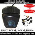 SONY HD CCD traseira Do Carro da câmera do carro de backup reversa câmera de visão traseira câmera com 170 de largura ângulo BMW X1 X3 X5 X6 auxiliar de estacionamento