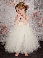 Handmade Ivory Flower Girl Dress Girls Party Tutu Dress Toddler Birthday Dress Baby Wedding Tutu Dress 2T/3T/4T/5T/6T/7T/8T