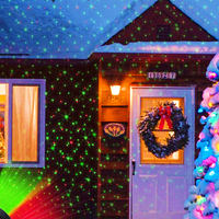 Işıklar ve Aydınlatma'ten Sahne Aydınlatması Efekti'de Noel lazer projektör gösterisi ışığı kırmızı yeşil LED sahne spot noel çim bahçe gökyüzü lazer peyzaj lamba aydınlatma