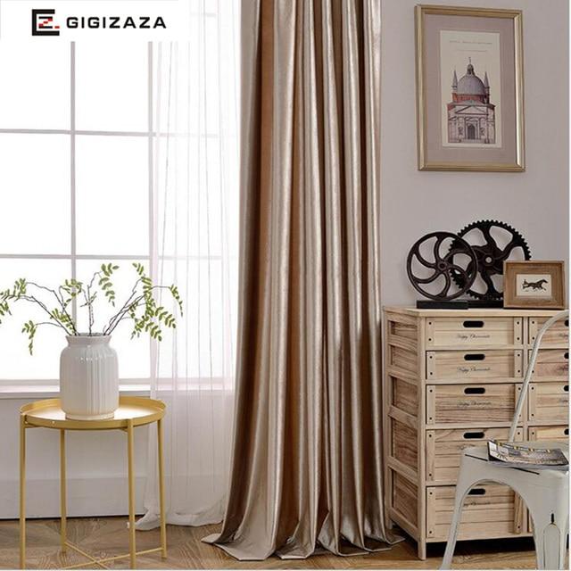 ruby fluwelen glanzende stof gordijnen black out jaloezien gordijnen voor slaapkamer woonkamer decoratieve voor kamers grijs