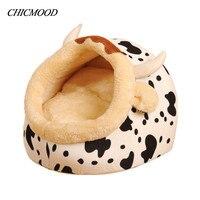 Milk Cow Design Dog House Pet Puppy Bed Leopard Print Cat Sofa Dot Animal Home