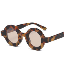 78dbaf987f5 Hot Small Round Sunglasses Women Retro 2019 Leopard Black Half Metal  Vintage Round Sun glasses for