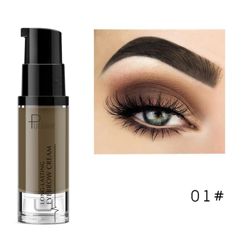 Pudaier, водостойкий Гель для макияжа в форме бровей, стойкий оттенок, тени для естественного увеличения бровей, крем, легко окрашиваемый, TSLM2 - Цвет: 01
