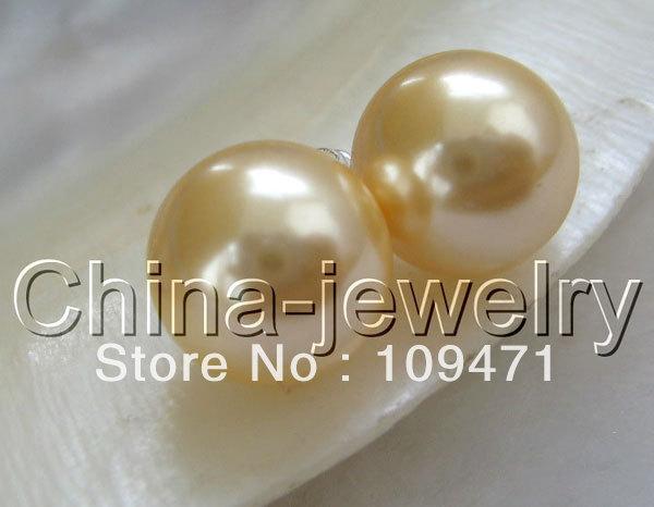 Excelente! ronda de oro perla de agua dulce