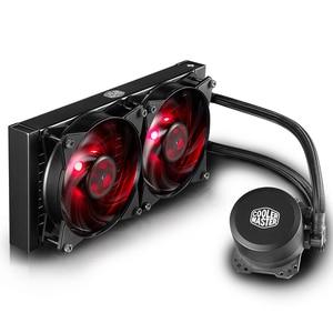 Image 2 - Refrigerador mestre b120 b240 cpu refrigerador de água 120mm vermelho led silencioso ventilador para intel 1155 1156 2011 2066 amd am4 am3 cpu líquido refrigeração