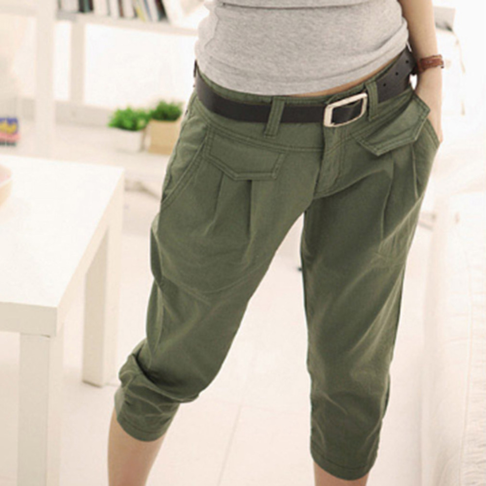 New 2018 Spring Autumn Women's   Pant   Casual Cropped Trousers /  Pants   &  Capris   Harem   Pants   Women Overall Fashion Students   Pants