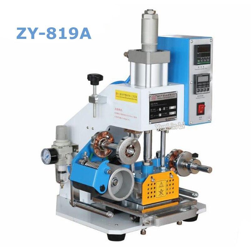 Pneumatische Logo Druck Maschine Leder Heißer Stanzen Maschine Visitenkarte Bronzing Maschine ZY-819A