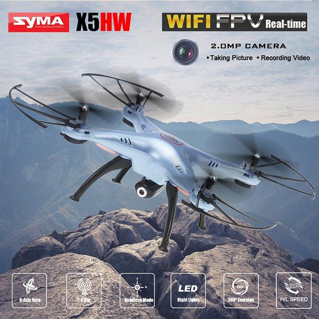 Syma x5hw 6-axis fpv rc quadcopter drone con cámara wifi 2.4g rc helicóptero quadrocopter syma toys vs con led de la noche luces