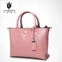 New High Quality Oil Wax Leather Women Handbags Ladies Classic All Match Bags With Zipper And