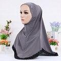 12 pçs/lote 12 cor venda Quente hijabs Muçulmanos novos lenços cabeça envolta cachecol rosa lado macio do lenço do crânio sob a tampa