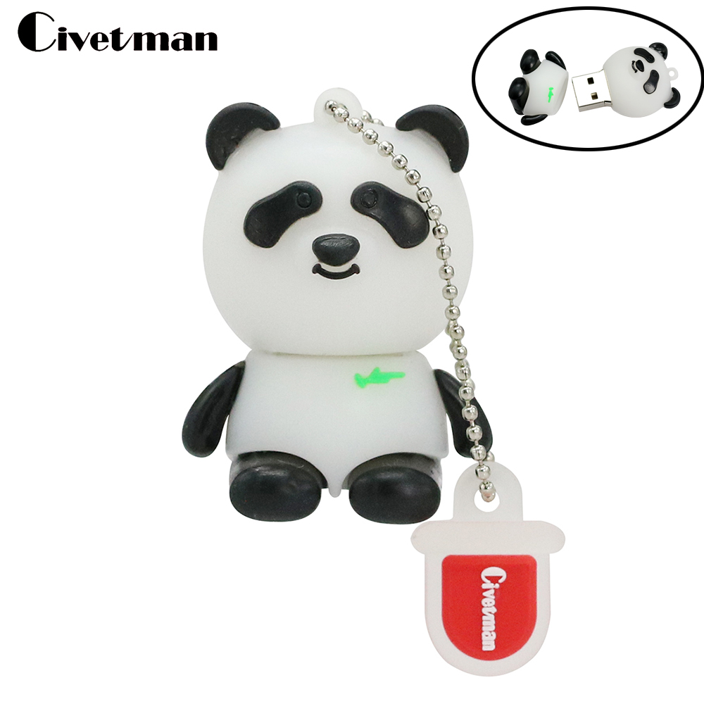 pen drive cartoon bearcat 4gb 8gb 16gb 32gb 64gb usb flash drive panda animal flash memory stick pendrive gift free shipping