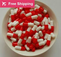 0# 1# 2# 1000 pcs / lot.red -white colored hard gelatin empty capsules, hollow gelatin capsules ,joined or separated capsules