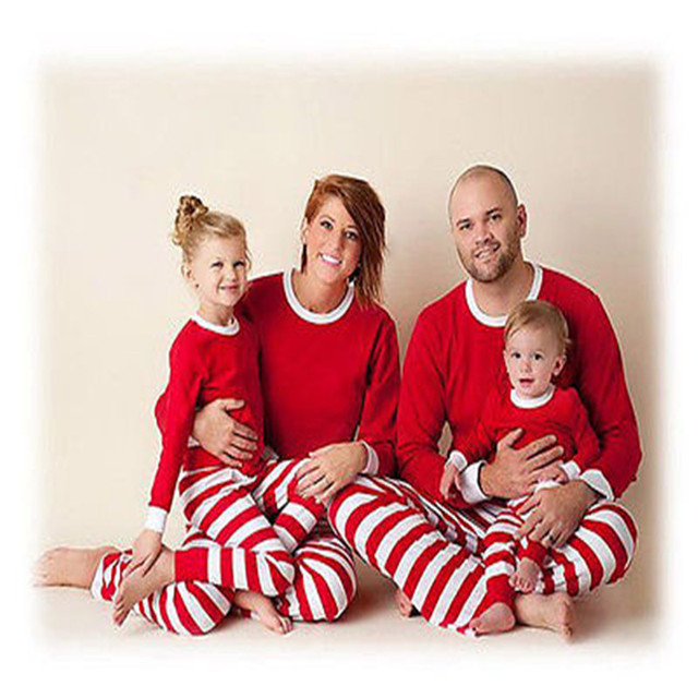 Mother and daughter pajama sets Matching christmas pajamas matching family clothes white red cotton family christmas pajamas