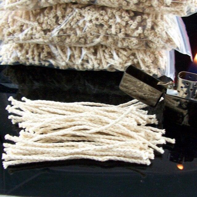 50 pz/set Filo di Rame Più Leggero di Cotone Nucleo Wick Cherosene Olio Più Legg