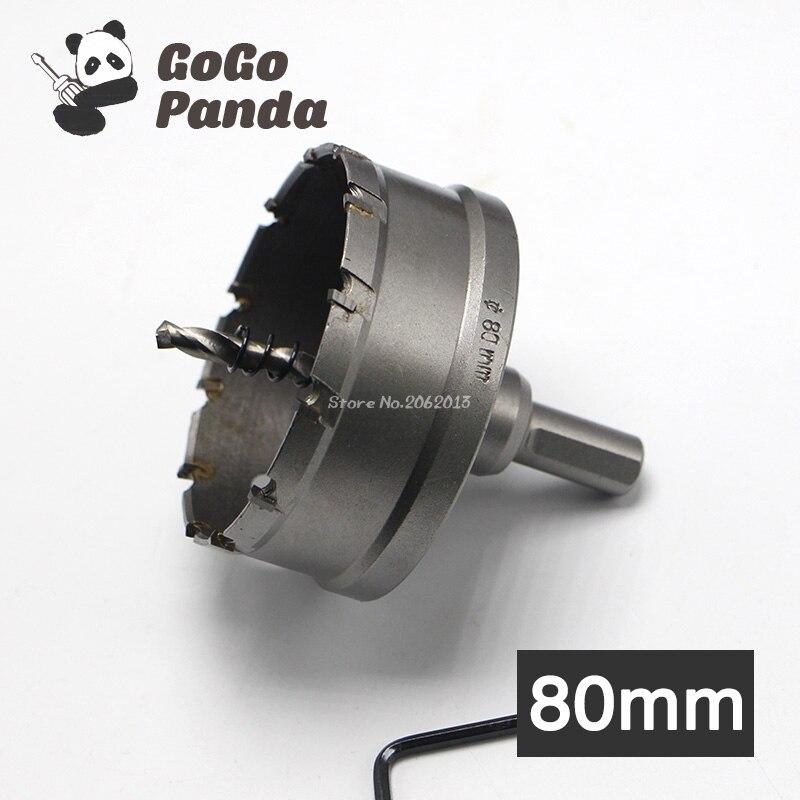 GoGoPanda High Quality 80mm Core Drill Bit Hard Alloy Metal Hole Saw for Steel Metal Alloy Metal Working 3.15