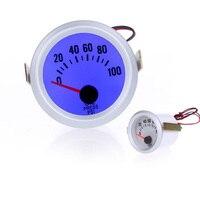 Professional Oil Pressure Gauge Meter with Sensor for Auto Car 2Inch 52mm 0~100PSI Blue LED Light
