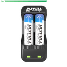DLYFULL U2 aa battery charger usb for Battery AA AAA NiCd NiMh Rechargeable Batteries with LED Display(China)