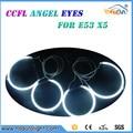 4 peças ultra brilhante 160mm & 127mm ccfl anjo olhos anel para BMW X5 E53 CCFL Angel Eyes kit com 2 inversores ccfl iluminação
