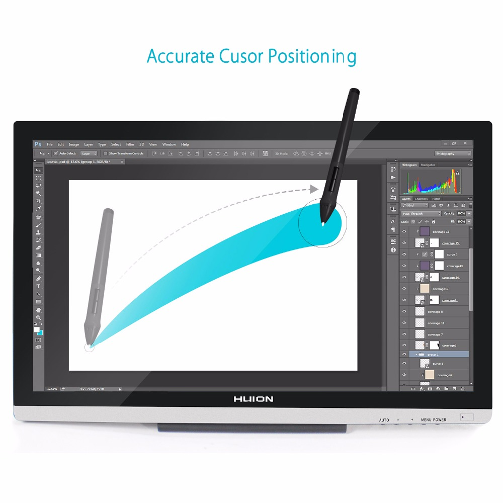 Image 2 - HUION GT 220 V2 21.5 Inch Pen Display Digital Graphics Drawing Tablet Monitor IPS HD Pen Tablet Monitor 8192 Levels with Gifts-in Digital Tablets from Computer & Office