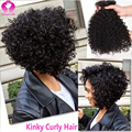 Malaysian Kinky Curly Hair With Frontal Ear To Ear Frontal 13X4 With Hair Bundles Short Bob Weave Sexy Formula Virgin Hair Style