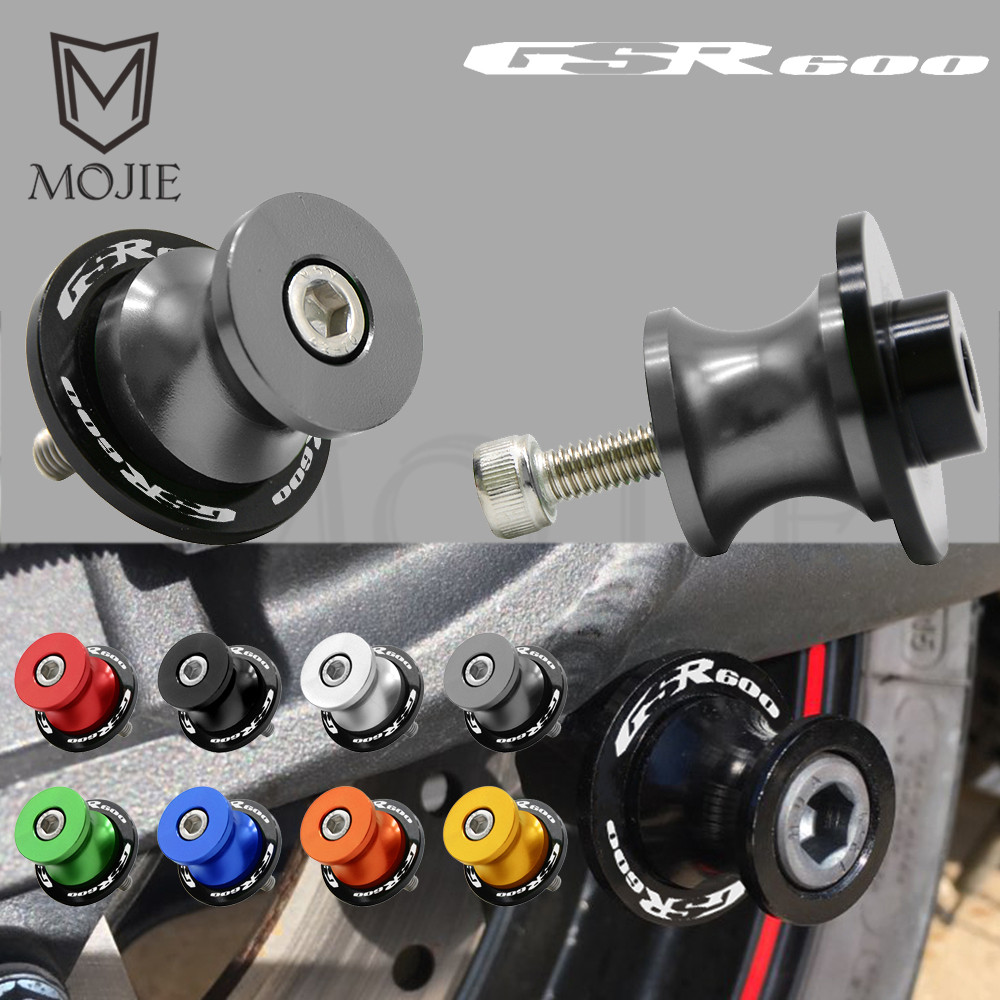 Swingarm Sliders Spools Rear Swingarm Stand Slider Protector Motorcycle 8mm For <font><b>SUZUKI</b></font> GSR600 <font><b>GSR</b></font> <font><b>600</b></font> 2006-2010 2007 <font><b>2008</b></font> 2009 image
