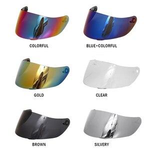 Image 2 - Motorcycle Anti scratch Wind Shield Helmet Lens Visor Full Face Fit for AGV K1 K3SV K5 Motorcycle Accessories