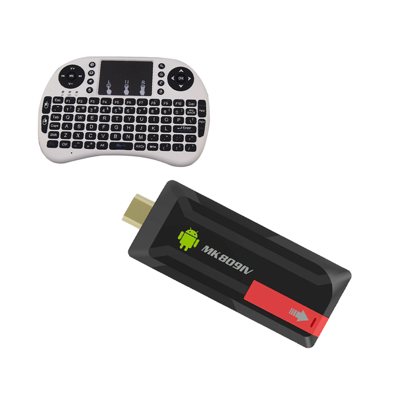 ФОТО MK809IV RK3188 Quad Core Mini PC Android TV Box Wifi 2GB 8GB Built-in Bluetooth + fly Keyboard air mouse touchpad remote