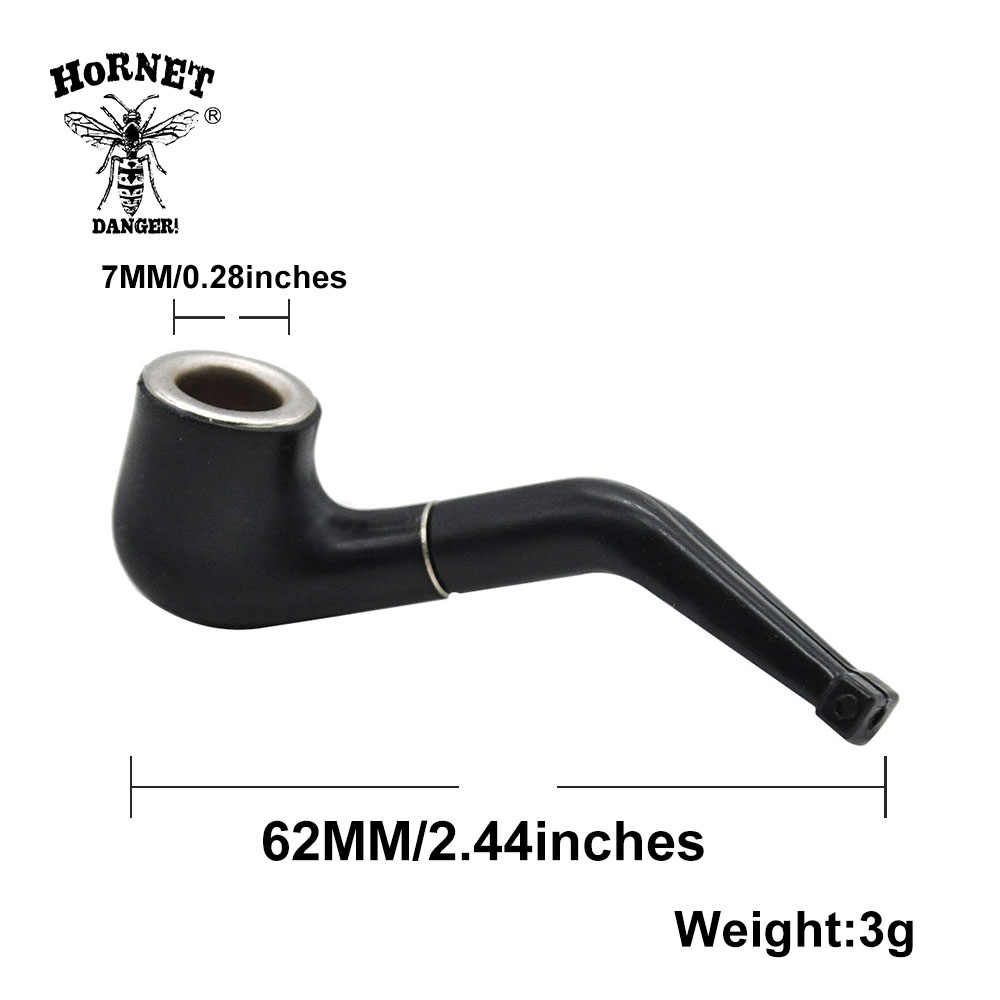 2 unids/lote negro Mini delicado pipa de fumar pipa de tabaco