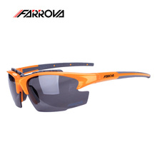 Farrova Men Sports Goggles Cycling Eyewear Bicycle Goggles Gafas Ciclismo Polarized Glasses Bike Sunglasses TR90 Frame 3 Lens reedoon f207 radiation blue ray protection tr90 frame resin lens gaming glasses bright black