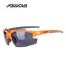 Farrova Men Sports Goggles Cycling Eyewear Bicycle Goggles Gafas Ciclismo Polarized Glasses Bike Sunglasses TR90 Frame 3 Lens