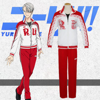 Free shipping Anime Yuri!!! on Ice Cosplay Costumes Victor Nikiforov Cosplay Clothes Suit Jacket Pants Cosplay Costumes
