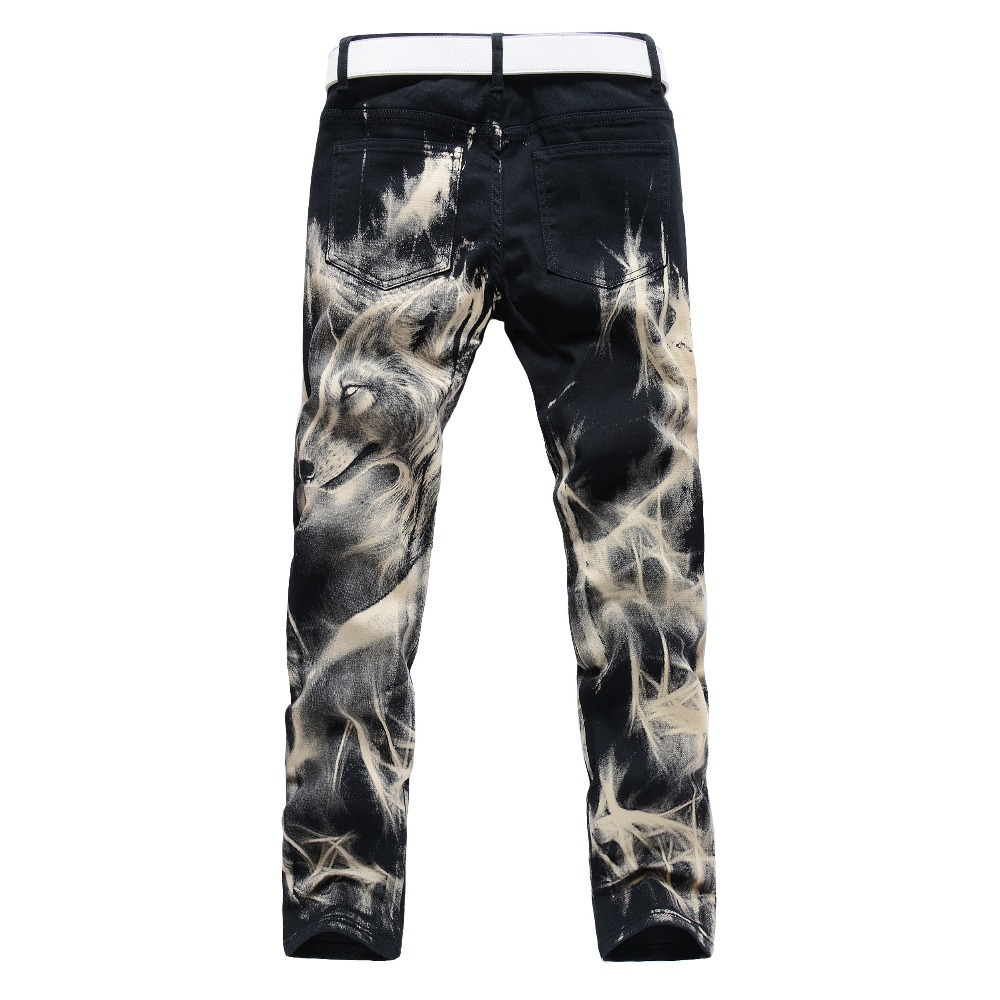 Aliexpress.com : Buy Hot Men'S designers Jeans 3d wolf lim fancy ...