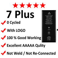 2pcs Lot AAAAA Original Quality 0 Zero Cycle Battery For IPhone 7 7G Plus 2900mAh 3