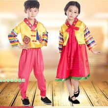 210fcf9c18e8 Spring 2017 Children Korean hanbok Girl Boy Stage performance costume