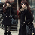 New Fashion Women's coat,Plus size Slim double-breasted hooded coat Ladies' Long coat Parka Free shipping S61004