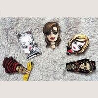 1 PCS Women Shaped Acrylic Badges Cartoon Decoration Harajuku Pin Badges Backpack Brooches Pins Badge Brooch