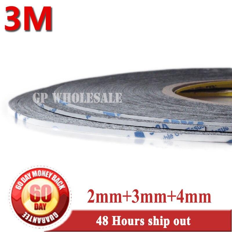 3 Mt Schwarz, 3x Mixed 2mm/3mm/4mm 3 Mt 9448 2 Seitige Klebeband Für Iphone Ipad Samsung Tablet Display/gehäuse/fall Klebstoff ZuverläSsige Leistung