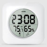 Creative Digital Bathroom Waterproof Clock Modern Suction Clock with Humidity and Temperature Display