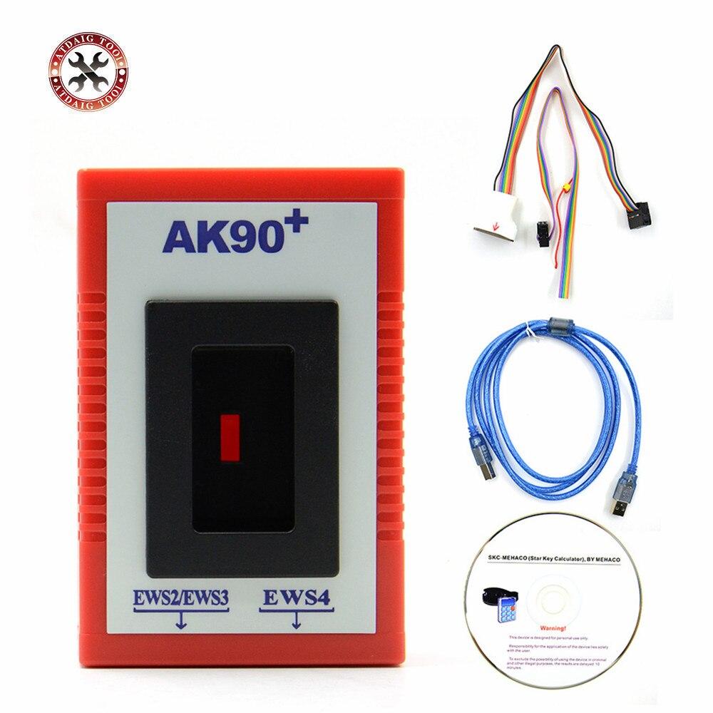 Oryginalny najnowszy V3.19 AK90 klucz programujący AK90 + dla wszystkich BMW EWS od 1995-2005 OBD2 kopiuj klucze do samochodu w najlepszej cenie