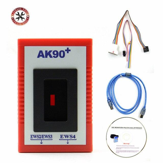 Originele Nieuwste V3.19 AK90 Key Programmeur AK90 + Voor Alle Bmw Ews Van 1995 2005 OBD2 Kopie Autosleutels met Beste Prijs