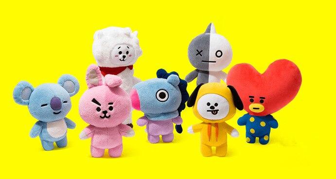 BTS BT21 Plush Doll Toy Bangtan Boys Kim Tae Hyung V Jung Kook Rabbit Cooky Plush Toy Stuffed Doll Fans Gift