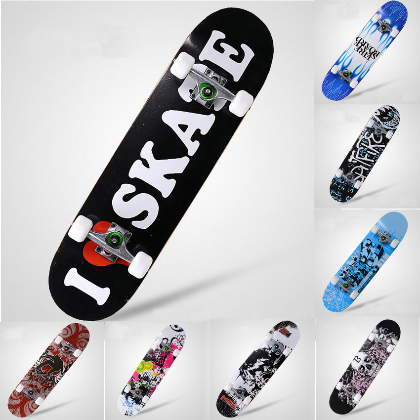 где купить Bearing 200kg Adult & Kids Complete Skate Board Skateboard Road Street Four-wheel 4 wheels Longboard Warped Plate Chinese Maple дешево