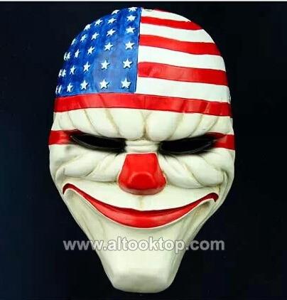Payday Chains Dallas Wolf Hoxton Maske Heist Kostüm für Halloween-Party-Prop Neu