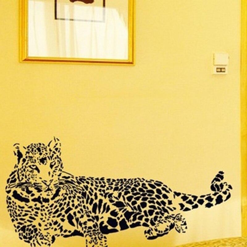 Fashion Black PVC Wall Stickers Cheetah Leopard 3D Removable Wall ...