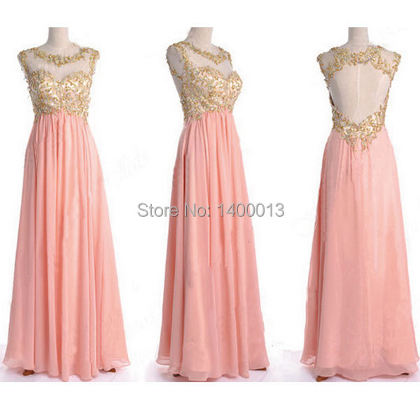 Pink Gold Gown